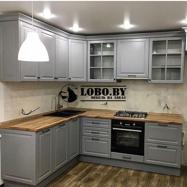 кухни на заказ мдф серый