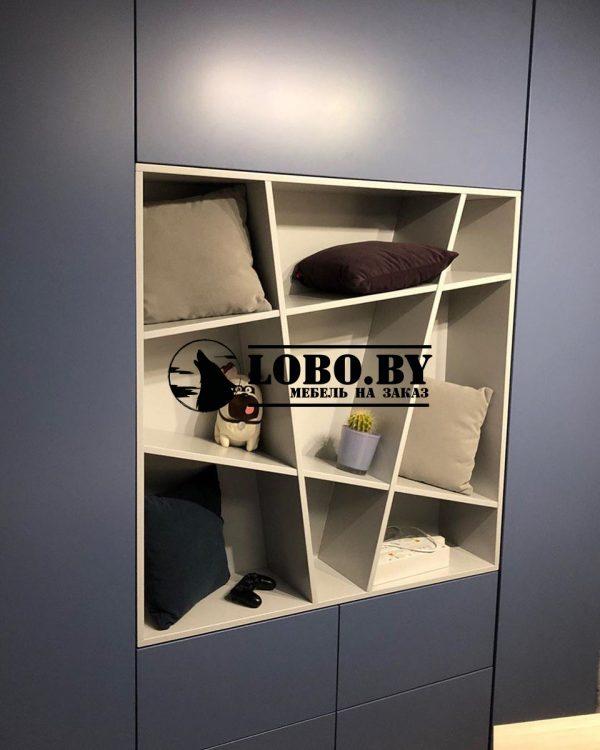 шкаф на заказ синий