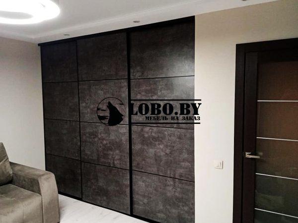 шкаф купе гардеробная бетон